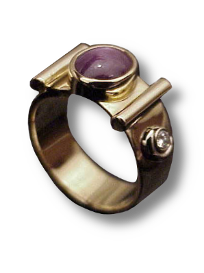 Star Ruby Reliquary Ring